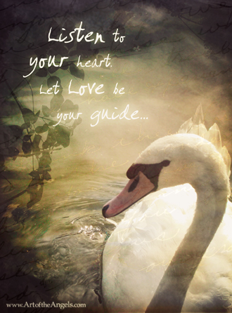 love-swan-animal-totem-copyright-art-of-the-angels-reminder-picture